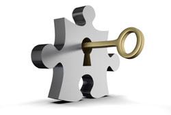 Un puzzle et une clé