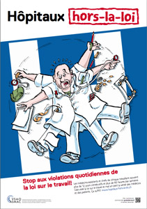 Affiche du mouvement Hôpitaux hors-la-loi