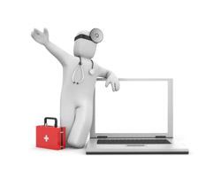 Médecin et ordinateur